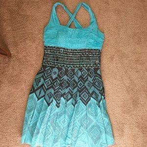 Bebe silk cross back dress